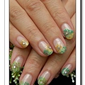 Calgel光療指甲~仿乾燥花夾心
