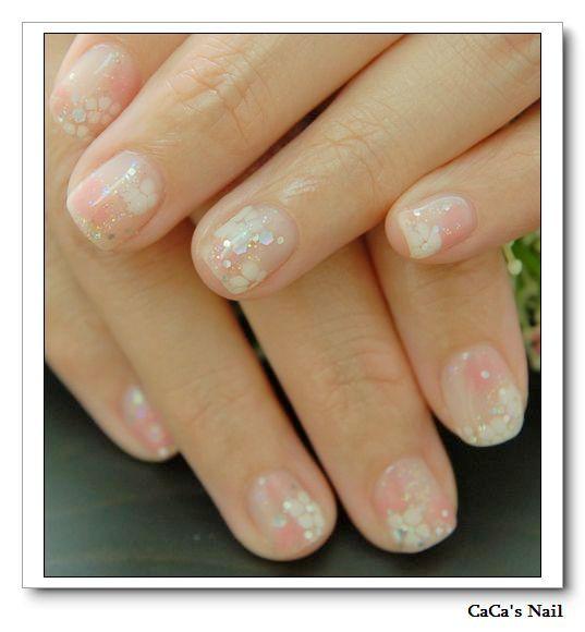 Calgel光療指甲~晶燦拉花