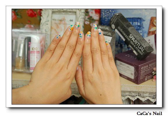 Calgel光療指甲~M&M彩色糖球