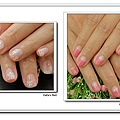 Calgel光療指甲~簡單。粉燦銀河