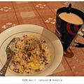 0417 我的晚餐~蛋炒飯和伯爵奶茶