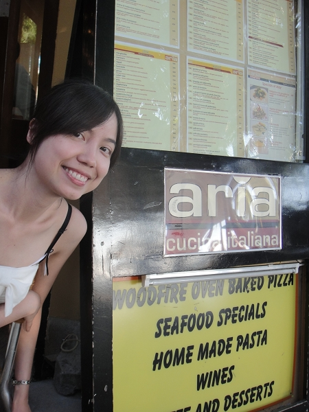 中餐吃S2很有名的披薩店Aria
