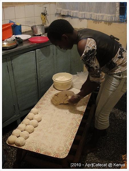 正在做烙餅