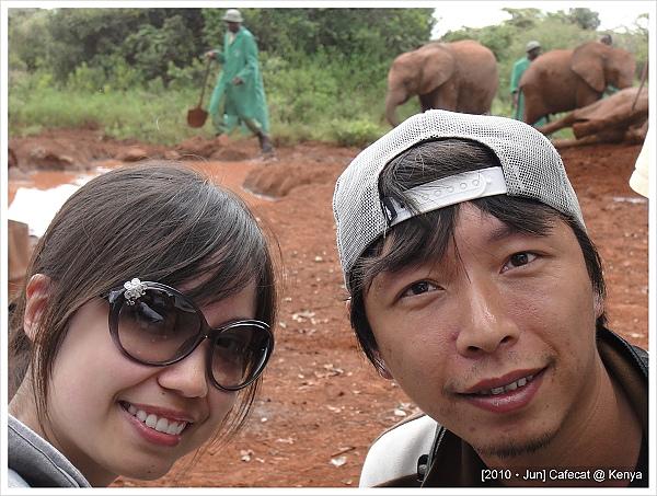 Nairobi city tour的第一站是大象孤兒院
