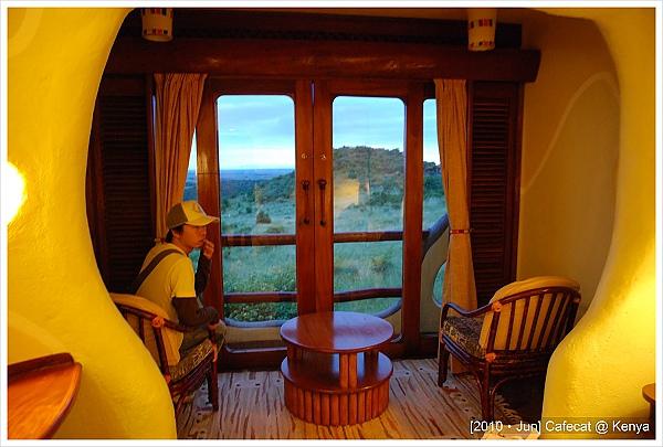 窗外就是大草原的view