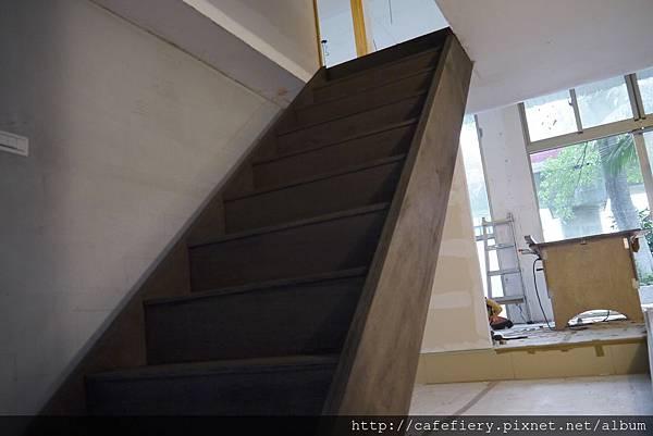 北投奇岩咖啡FIERY-樓梯染色