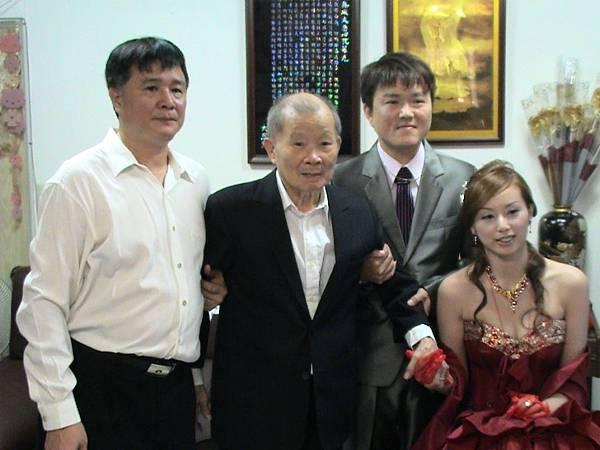 新郎新娘&新娘的爸爸和爺爺
