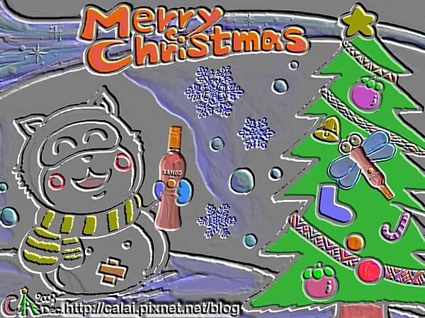 山竹果汁舖聖誕卡2009_雪貍浮雕.jpg