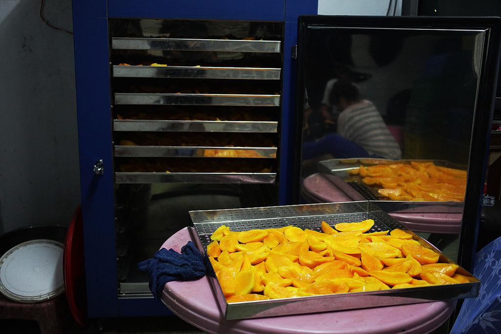 專門用來製芒果乾的烘乾機,