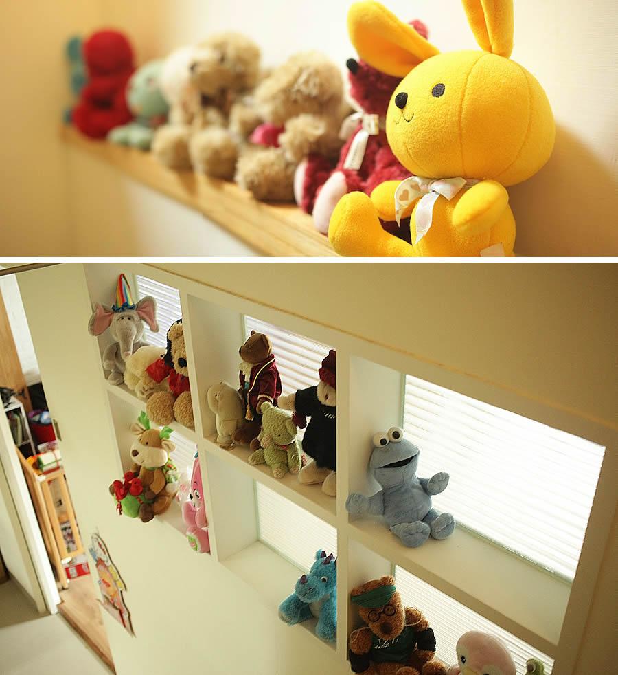別墅內 到處可看到 可愛的玩偶裝飾耶!