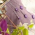 14.{ 紫色玫瑰心事 } 9.7 cm平口夾