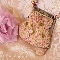 27.[ 白玫瑰。口金包 ]  (2片式拼接)平式口金夾寬 8cm