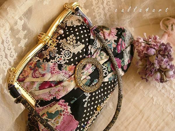 { 宴色拾光。口金包 } 蕾絲花片+珠色+古件釦環。