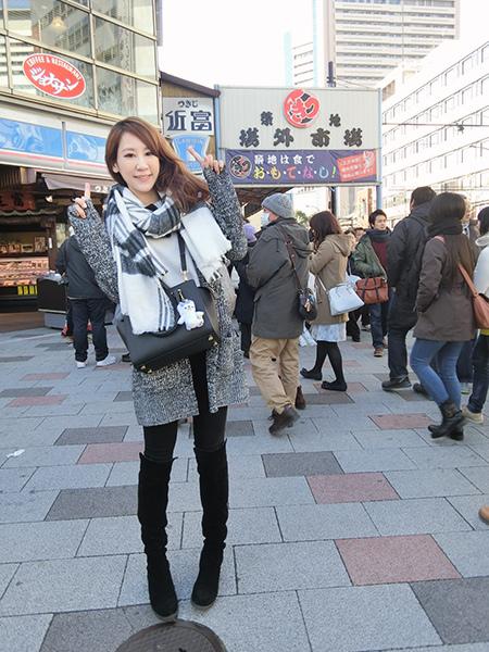 凱莉王東京自由行冬季穿搭42