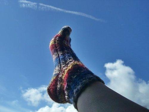 毛線編織 襪子