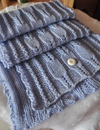 ice blue merino wool