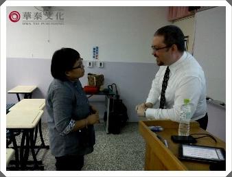 講師與Cynthia老師互動中