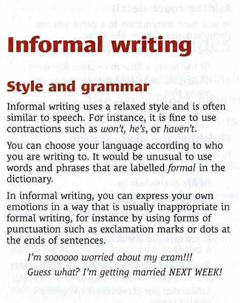 informal writing