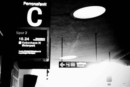 哥本哈根機場下方火車月台