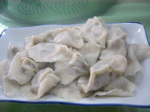 韭菜豬肉水餃- 這不是我要吃的.我不是很喜歡吃水餃