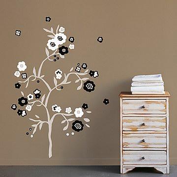 巴黎藝術壁貼─白與黑Black & white Flowers.jpg