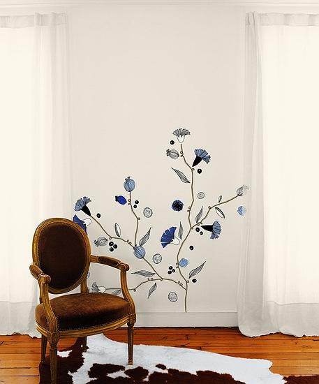 巴黎藝術壁貼─雪地藍莓Frise rétro.jpg