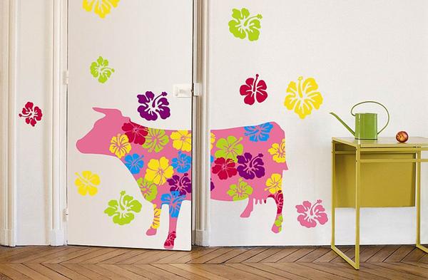 巴黎藝術壁貼─花牛Cow.jpg