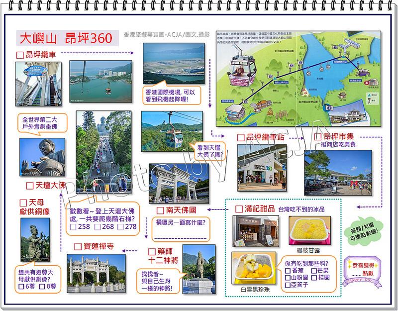 ACJA 香港旅遊尋寶圖-大嶼山昂坪360-1