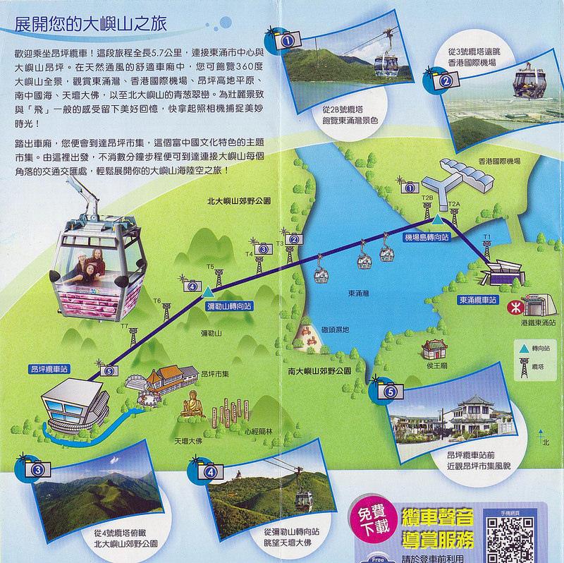 昂坪纜車地圖