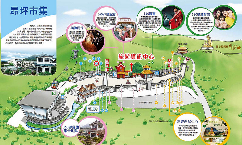 昂坪市集地圖