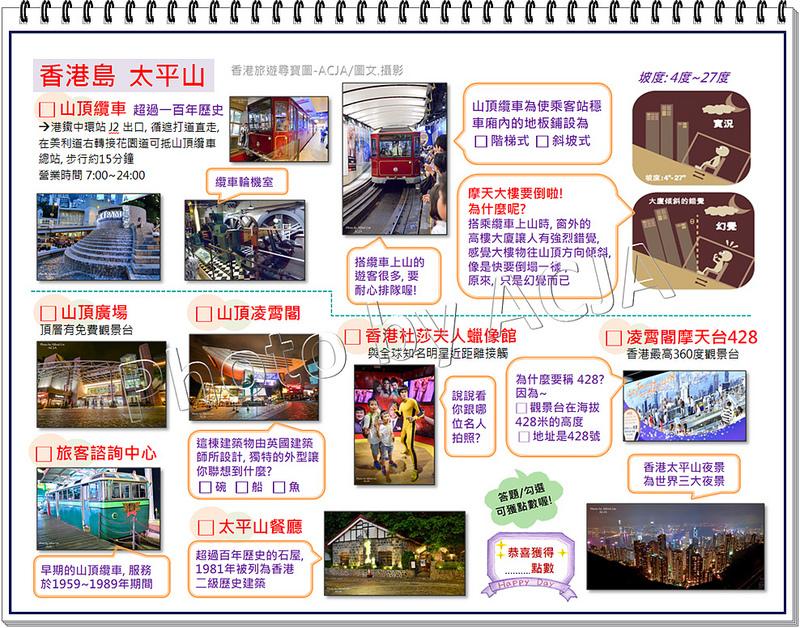 ACJA香港旅遊尋寶圖-太平山-1