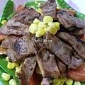 日式照燒肉片沙拉