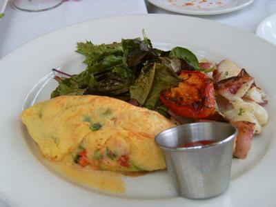Mushroom & Cheddar Omelette