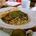 Grilled Chicken Pesto Fetucinni