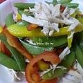 溫沙拉 ~ 日式碗豆甜椒雞絲沙拉