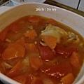 蔬菜煲雞湯
