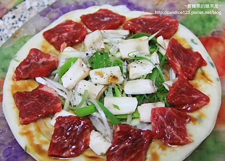 蔥油餅蔥爆牛肉pizza (6)