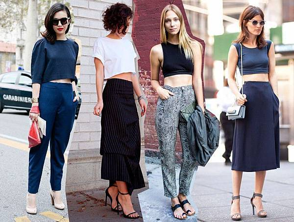 crop top trend 2014 outfits fashion blog bloggers wearing crop tops street style streetstyle.jpg