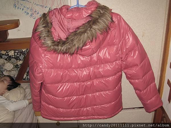 極輕暖羽絨外套-女-粉桃-XL