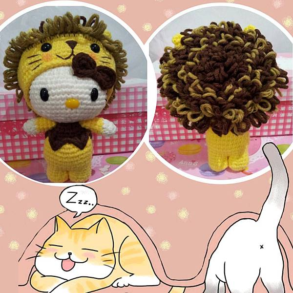 獅子造型的Kitty