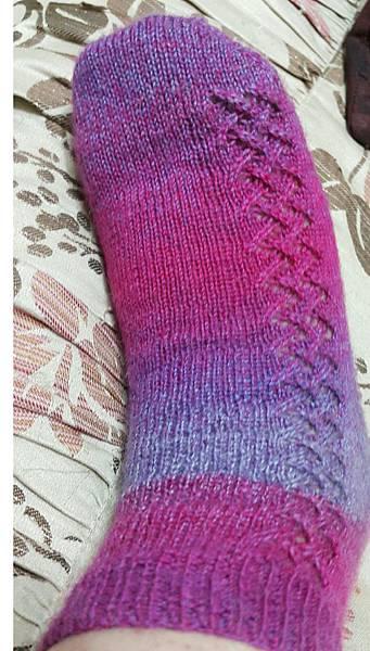 第一次織襪子