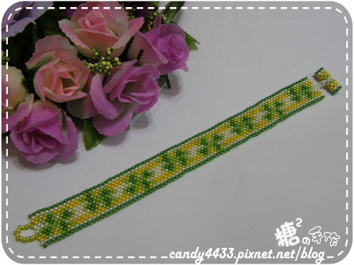 佩奧特串珠編織-幸運草手鍊1