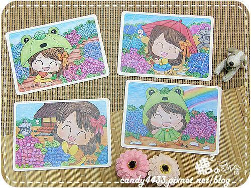 紫陽花明信片