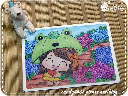 五月歲時記-雨季裡的青蛙傘