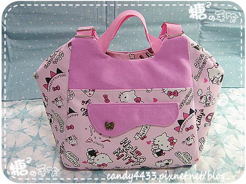 粉紅kitty手提後背包01