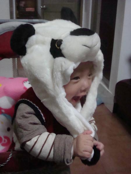 很夯的貓熊帽