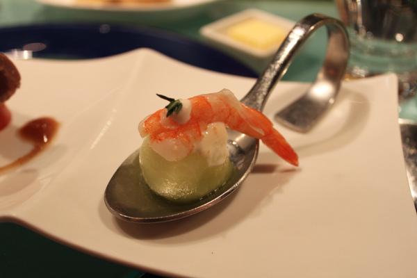 鮮蝦水果盅
