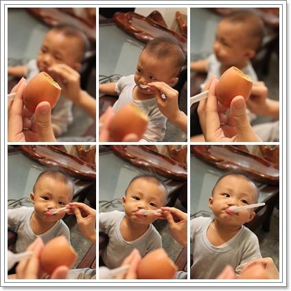 豪哥吃雞蛋布丁