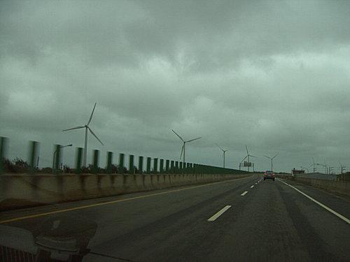 遠遠就看見大風車