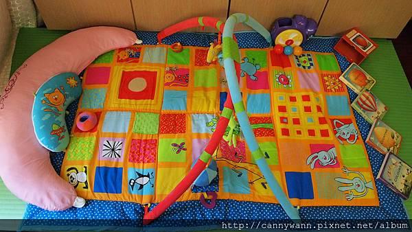 雪莉的玩具書&baby joy遊戲毯.JPG
